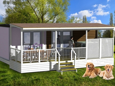 Selectcamp Premium Mobilhome Exclusive hund, camping  på Camping Union Lido i Adriaterhavet - billede 1