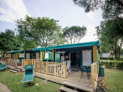 Roan Namiot Lodge Namiot willowy Woody z WC, camping  Camping Park Albatros, Toskania - zdjecie 1