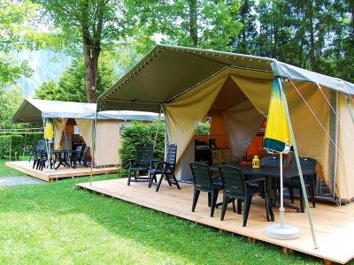 Rent-a-Tent Taupe, camp site Camping Cisano/San Vito in Lake Garda - picture 1