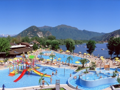 Camping Italien, Maggiores�en- Campingplads Isolino - mobilhomes og telte - billede 1
