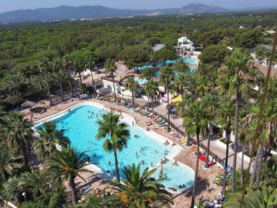 Camping holiday France, Côte d'Azur - Campingsite Camping La Baume and Palmeraie - mobile homes and tents - picture 1